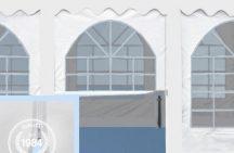 Oldal ablakokkal és cipzárral